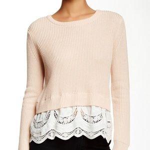 Maje | Émiline Linen Cotton Blend Sweater
